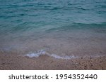 White Sea Foam In The Edge Of A ...