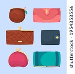 money wallets. dollars and... | Shutterstock .eps vector #1954353556