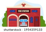 building fire station  services ...   Shutterstock .eps vector #1954359133
