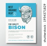 best organic meat abstract... | Shutterstock .eps vector #1954371829