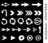 arrows glitch icons  digital...