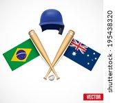 symbols of baseball team brazil ... | Shutterstock .eps vector #195438320