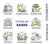types of banks as financial... | Shutterstock .eps vector #1954388359