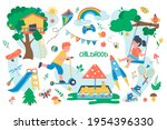 childhood concept isolated...   Shutterstock .eps vector #1954396330