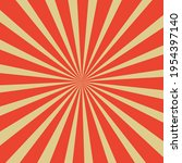 illustration of red rays on... | Shutterstock .eps vector #1954397140