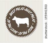 label design over beige... | Shutterstock .eps vector #195441503