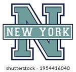 vintage college varsity font... | Shutterstock .eps vector #1954416040