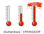 goal thermometer icon set....   Shutterstock .eps vector #1954426339
