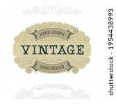 vintage style label... | Shutterstock .eps vector #1954438993