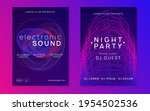 electronic fest. dynamic fluid...   Shutterstock .eps vector #1954502536