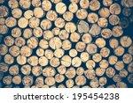 A Pile Of Cut Wood Stump Log...