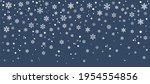 hello  winter border  snow... | Shutterstock .eps vector #1954554856