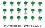 set of broccoly cartoon...   Shutterstock .eps vector #1954561273