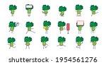 set of broccoly cartoon...   Shutterstock .eps vector #1954561276