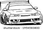 vector black and white image of ...   Shutterstock .eps vector #1954583800