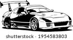vector black and white image of ...   Shutterstock .eps vector #1954583803