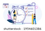 deadline time management on the ... | Shutterstock .eps vector #1954601386