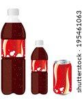 juice drink pet bottle can set...   Shutterstock .eps vector #195461063