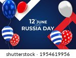 happy russia day holiday... | Shutterstock .eps vector #1954619956