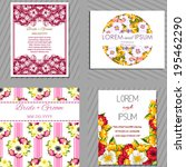 wedding invitation cards with... | Shutterstock . vector #195462290