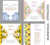 wedding invitation cards with... | Shutterstock . vector #195462353