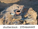 Broken Ancient Earthenware Jug...