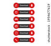 vector download button.... | Shutterstock .eps vector #1954677619