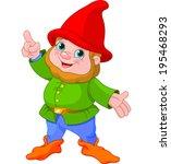 illustration of cute gnome... | Shutterstock .eps vector #195468293
