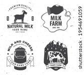 dairy farm. only fresh milk...   Shutterstock .eps vector #1954691059