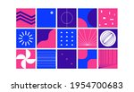 abstract brutalism shapes....   Shutterstock .eps vector #1954700683
