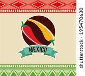 mexico design over beige... | Shutterstock .eps vector #195470630
