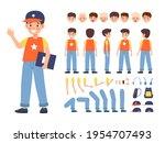 kid constructor. boy character... | Shutterstock .eps vector #1954707493