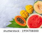 Assortment Of Tropical Fruits...