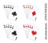 poker and casino playing cards. ... | Shutterstock .eps vector #1954709203