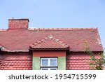 Old Red Roof Roof Of Burnt...