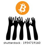 bitcoin growth  everyone wants...   Shutterstock .eps vector #1954719160