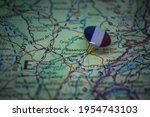 Besancon Pinned On A Map With...