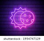 glowing neon line eclipse of... | Shutterstock .eps vector #1954747129