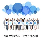 group of multi ethnic business... | Shutterstock . vector #195478538