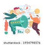 pr management network promotion ... | Shutterstock .eps vector #1954798576