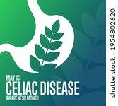 may is celiac disease awareness ... | Shutterstock .eps vector #1954802620