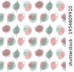 vector seamless pattern of hand ...   Shutterstock .eps vector #1954809910