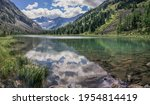 wild lake in the altai... | Shutterstock . vector #1954814419