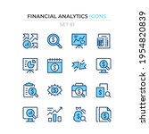 financial analytics icons.... | Shutterstock .eps vector #1954820839