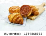 Defocused Of Buttered Croissant ...