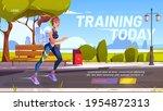 training today cartoon landing... | Shutterstock .eps vector #1954872313