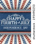 greeting card for fourth of... | Shutterstock .eps vector #195490253