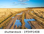 autumn rural landscape with the ... | Shutterstock . vector #195491408