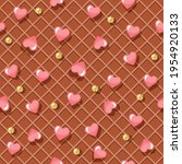 wafer seamless pattern... | Shutterstock .eps vector #1954920133