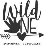 wild one   baby design | Shutterstock .eps vector #1954928656